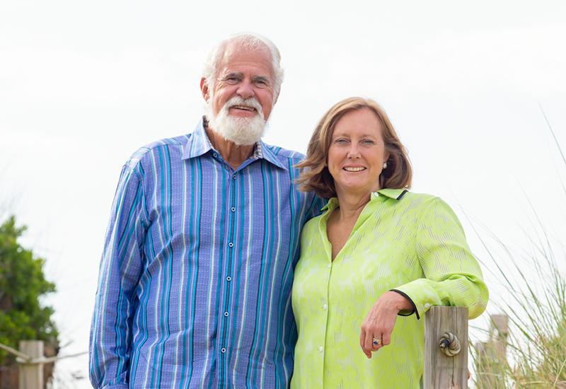 Rachel Dunlap with Husband