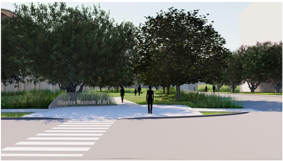 Rendering of proposed site for Butler Sound Gallery